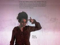 Berlin Subway Poster about Sweatshops 1