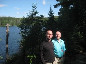 At Maple Leaf Lake - Algonquin Provincial Park Western Uplands Trail